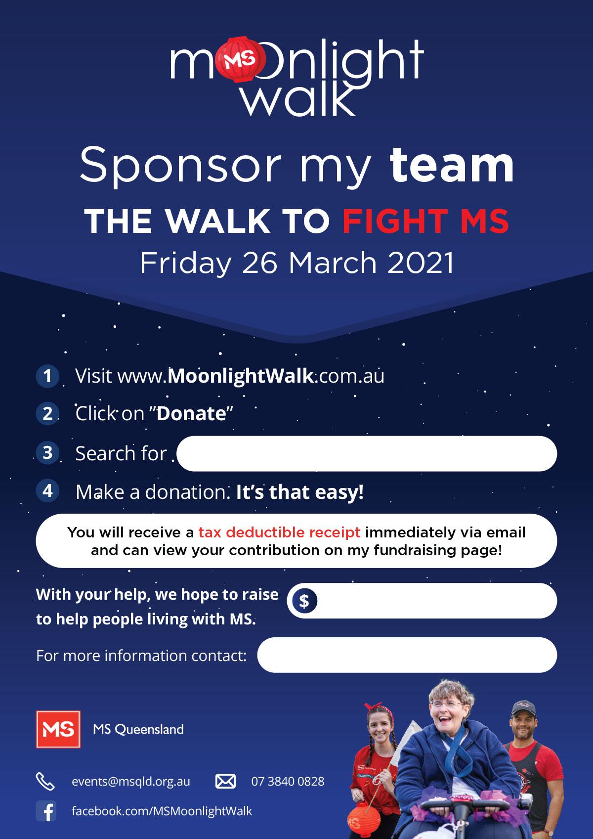 Sponsor My Team Poster